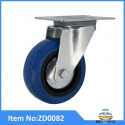 European industrial blue Elastic Rubber furniture Castor Wheel