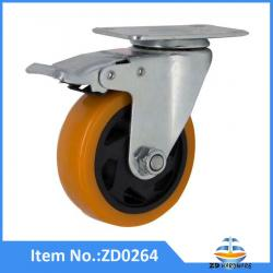 PU castor wheel 100mm good quality