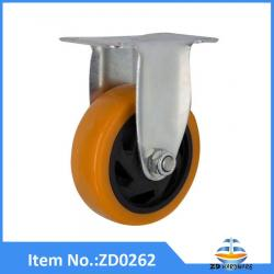 PU Rigid heavy duty castor wheel