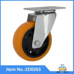 PU castor wheel 100mm load capacity 140kgs
